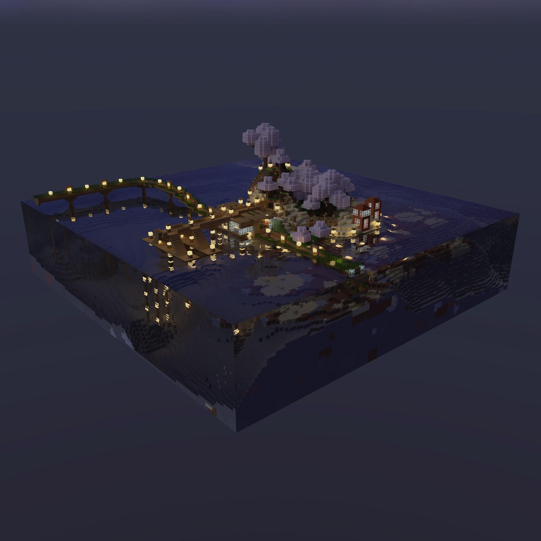Sakura Island At Night